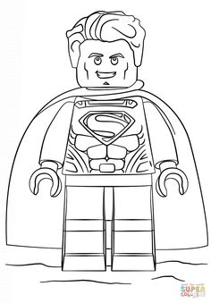 Lego Superman Coloring Page From Super Heroes Category Select 27278 Printable Crafts Of Cartoons Nature Animals Bible And Many More