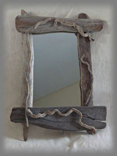 """Specchio """"PRIMITIVE"""" con legni di mare di Tendance nature su DaWanda.com"""