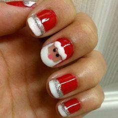 Christmas Inspired Santa Nail Art