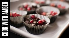 Valentine's Day! Salted Dark Chocolate Pomegranate Clusters   Cook With Amber