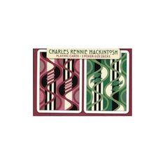 "Charles Rennie Macintosh Poker Playing Cards /""Furniture Fabric/"" Design 2 Decks"
