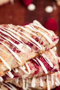 These White Chocolate Raspberry Scones are bursting with fresh raspberries and white chocolate. They're ultra moist, not at all dry, and full of flavor!