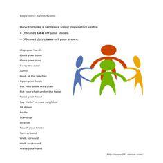 EFL Game using imperative verbs