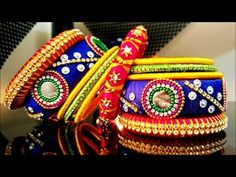 100 Exclusively Designed Broad Silk Thread Bangle Designs - YouTube