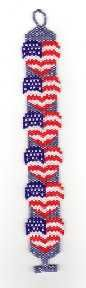 Bead Pattern - Blue Jean Patriot ( have to buy the pattern for this.) not a free tutorial.