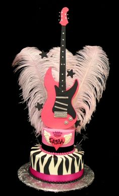 Party Flavors Custom Cakes is Central Florida's premier buttercream destination for your custom wedding cake or party cake. Pink Guitar, Rockstar Birthday, Cupcake Cakes, Cupcakes, Guitar Cake, Rock Star Party, Incredible Edibles, Sweet Cakes, Custom Cakes