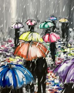 Paint Nite Rainy Reflections Trending Paintings