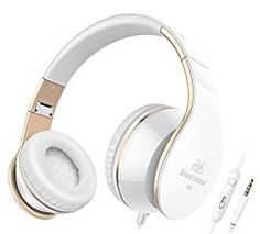 Headphones, Sound Intone I65 Headphones with Microphone and Volume Control for Travel, Work, Sport , Foldable Headset for Iphone and Android Devices(White/gold). Deep, powerful sound for the music you love. Significant noise reduction for travel, work, study and anywhere in between Lightweight, comfortable on-the-ear design for portability as well as long-wear comfort