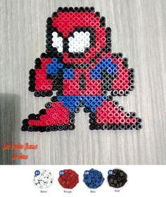 Spiderman hama perler beads by Jessica Bartelet - Les perles Hama de Jess