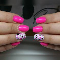#paznokcie #nails #manicure #gelnails #mintyclaw #nailac @nailacuv #instanails #dotnails #piegi Shellac Nails, Diy Nails, Acrylic Nails, Country Nails, Confetti Nails, Claw Nails, Nails For Kids, Gel Nail Designs, Simple Nails
