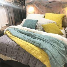 linge de lit linum 100% stenvasket hør/stonewash linen #cushion #linum #swedishdesign  linge de lit linum