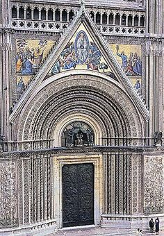The ornate Gothic facade of Orvieto Cathedral. Umbria. This is one of my favorite places--right after Venice, of course!