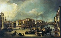 Giovanni Antonio Canal (called Canaletto),Grand Canal: Looking Northeast From Near The Palazzo Corner Spinelli To The Rialto Bridge oil painting reproductions for sale