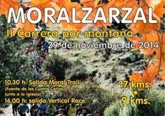 El día 29 de Noviembre tendrá lugar en la localidad madrileña de Moralzarzal, la segunda edición de la carrera por montaña Moral Trail.  Nuestro colaborador Curro Revilla, se probará lanzándose a las carreras de montaña y corriendo dos pruebas consecutivas de 17K y 9K.