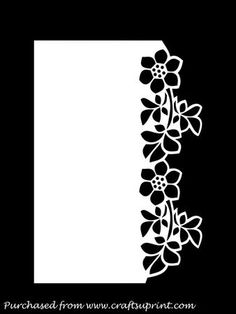 OVER THE EDGE FLORAL BORDER GSD PDF SVG on Craftsuprint designed by Apetroae Stefan - In gsd, pdf and svg format, with optional backing plate - Now available for download!