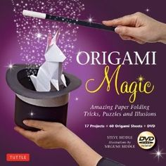 Prepare to astound your friends and family in no time at all as you perform stunts that professional magicians do—all through the magic of origami! $16.95 #magic #origami #magician #book