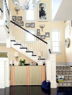 I kinda like the way these stairs look. >> Mixing Paint Colors and Patterns | Interior Design Styles and Color Schemes for Home Decorating | HGTV