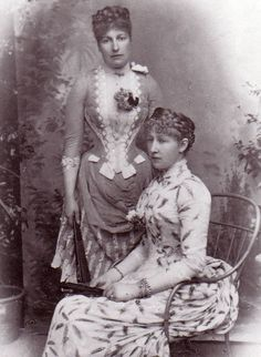 Princesses Louise and Stephanie of Belgium.
