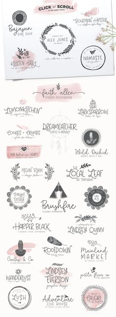 Among The Wildflowers Font Duo by Callie Hegstrom on creativemarket Logo Design, Web Design, Design Poster, Label Design, Branding Design, Design Ideas, Logo Inspiration, Free Fonts For Designers, Flyer
