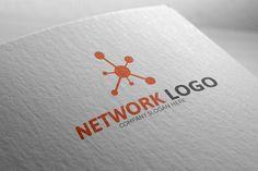 Network Logo by Josuf Media on Creative Market Brand Identity Design, Brand Design, Logo Design, Badge Template, Logo Templates, Ict Logo, Neural Art, Global Logo, Connect Logo