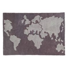 Chic with a side of global charm, the Lorena Canals World Map Kids Area Rug is a stylized way to begin showing your kids the world. This area rug is handmade of plush cotton and is conveniently machine washable. Washable Area Rugs, Machine Washable Rugs, World Map Rug, Lorena Canals Rugs, Kids Area Rugs, Childrens Rugs, Tapis Design, Baby Room Decor, Grey Rugs