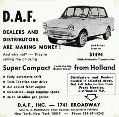 DAF from Holland - US-adv (1966)