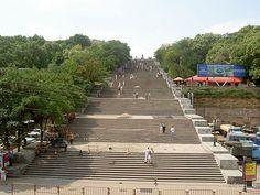 L'escalier du Potemkine à Odessa