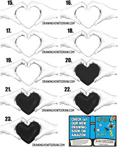 heart draw valentine hands holding easy drawings step couple simple beginner couples