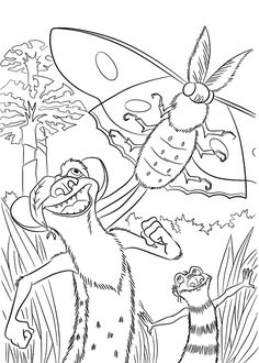 Buck From Ice Age Coloring Pages For Kids Printable Free