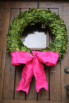 Boxwood Wreath Valentine Door Wreath 24 inch by SpottedLeopard, $125.00