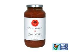 100 Cleanest Packaged Food Awards 2013: Grains And Pastas: Dave's Organic red heirloom pasta sauce http://www.prevention.com/food/healthy-eating-tips/100-cleanest-packaged-food-awards-2013-grains-and-pastas?s=7