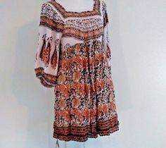 New Free People Women Boho MidSummer  Dream Dress Size M Hippie Peasant Defect #FreePeople #Sundress #SummerBeach