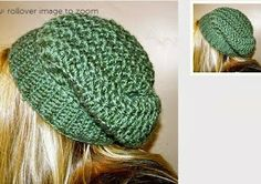 Free Crochet Pattern Sundance Slouch Hat Pattern - and more tuts Crochet Adult Hat, Crochet Cap, All Free Crochet, Crochet Beanie, Crochet Scarves, Knitted Hats, Love Knitting, Knitting Patterns, Crochet Patterns