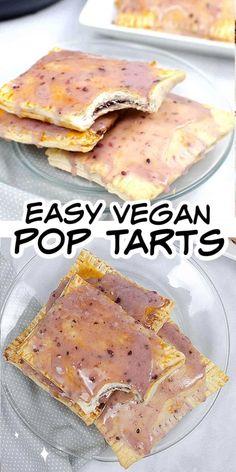 Jam Recipes, Quick Recipes, Vegan Recipes, Best Pop Tart Flavors, Finger Food Appetizers, Finger Foods, Vegan Comfort Food, Vegan Food, Strawberry Pop Tart