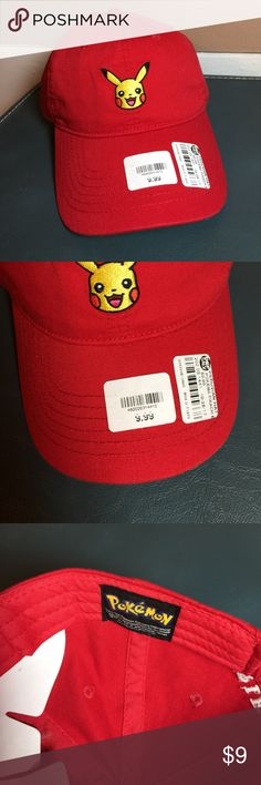 Pokémon Pikachu Dad Hat 🔹Amazing Pikachu Pokémon Dad Hat in Red 🔹New with tags 🔹Smoke free home- I do however have cats, but I try my best to ensure a clean product! 🔹Please view all pictures before purchase. 🔹Price firm! 🔹Thanks for viewing! Pokemon Accessories Hats