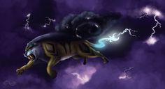 Storm Raikou by Legend13.deviantart.com on @deviantART