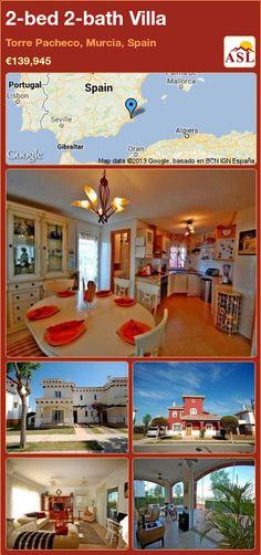 2-bed 2-bath Villa in Torre Pacheco, Murcia, Spain ►€139,945 #PropertyForSaleInSpain