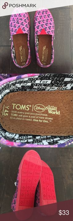 Toms Disney special edition shoes New! Toms Disney it's a small world special edition shoes. Youth size 4.5 never worn. TOMS Shoes