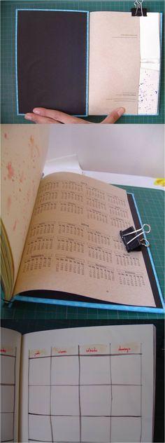 Agenda mensual perpetua, hecha a mano. Para más información sobre mis libretas, cuadernos y agendas, clic acá: http://raccontourahara.tumblr.com/post/107763911075/quieres-comprar-una-libreta-o-agenda-de-racconto   ***   crafts, manualidades, planner
