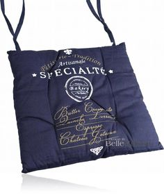 Poduszka na krzesło Specialite granatowa - BelleMaison.pl Shabby Chic, Reusable Tote Bags, Fashion, Moda, Fashion Styles, Fasion, Shabby Chic Style
