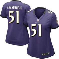 Nike NFL Baltimore Ravens 51 Brendon Ayanbadejo Elite Women Purple Team Color Jersey Sale