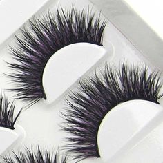 XM44 6 Pairs Natural Thick Cross BLACKPURPLE COLOR PARTY False Eyelashes beauty Party Lashes HOT Eye Lashes >>> You can get more details by clicking on the image. (Note:Amazon affiliate link) #MakeupBrushesTools
