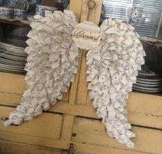 me ~ Blessed Vintage Sheet Music Angel Wings Vintage Sheet Music Paper Wreath Sheet Music Crafts, Music Paper, Christmas Books, Christmas Wreaths, Christmas Crafts, Xmas, Christmas Decorations, Vintage Sheet Music, Vintage Sheets