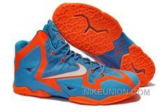 http://www.nikeunion.com/shop-real-cheap-nike-lebron-xi-11-shoes-blue-grey-orange-discount.html SHOP REAL CHEAP NIKE LEBRON XI (11) SHOES BLUE GREY ORANGE DISCOUNT Only $69.52 , Free Shipping!