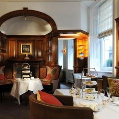 Take afternoon tea at The English Tea Rooms at Brown's Hotel (the oldest hotel in London) where Rudyard Kipling wrote most of The Jungle Book. A true  'afternoon tea' experience.