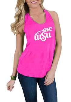 Wichita State Shockers Women Pink Tank Top http://www.rallyhouse.com/shop/wichita-state-shockers-womens-neon-pink-katie-tank-top-16240035?utm_source=pinterest&utm_medium=social&utm_campaign=Pinterest-WSUShockers $29.99