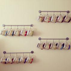 Starbucks City Mugs - towel hanger