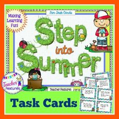 In the last weeks of school, these fun task cards are a great answer to keeping students focused. Use the cards as a Writing Center or as an individual option for Fast Finishers.