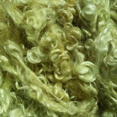 Mohair dyed with fresh dandelion flowers alum mordant