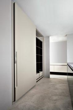 Sleek kitchen with extra large sliding doors